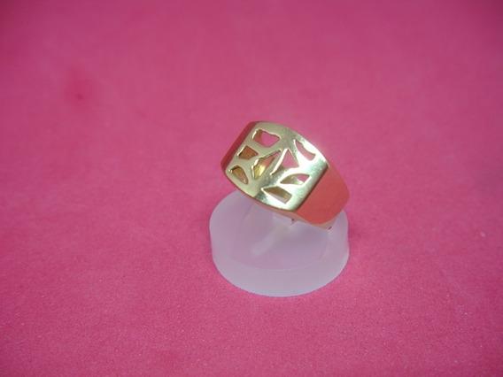 Anel Em Ouro Amarelo 18k/750 Peso 4.1 Gramas