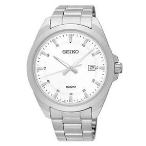Relógio Seiko Masculino Aço Prateado Original Sur205b1 S1sx