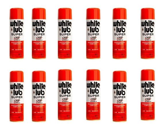 Kit 12 Oleo Desengripante White Lub Super 300ml Orbi Quimica