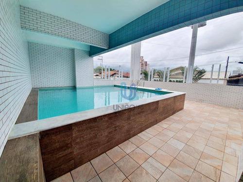Imagem 1 de 14 de Apartamento Com 1 Dormitório À Venda, 44 M² Por R$ 240.000,00 - Vilamar - Praia Grande/sp - Ap0365
