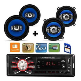 Kit Alto Falante P Gol G3 G4 G5 G6+toca Radio Mp3 Player Usb