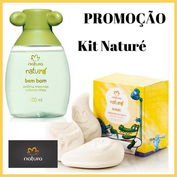 Promoção Kit Naturé - Colônia Bem Bom Meninos Com 100ml Natura + Sabonete Em Barra Bololô Natura - Preço Especial