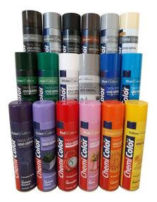 6 Tinta Spray Chemicolor Multiuso - 6 Unidades