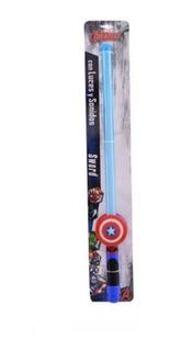 Espada Luz Y Sonido Spider Man Capitan America Ditoys Piu