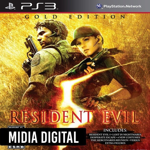 Ps3 Psn* - Resident Evil 5 Gold Edition