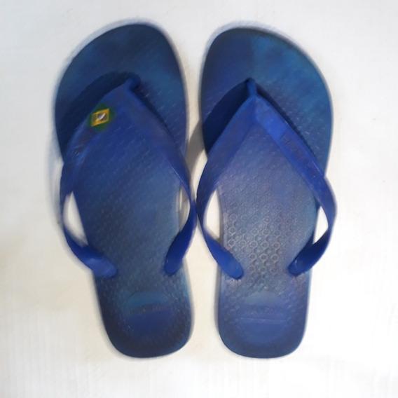 Chinelo Sandália Azul N° 36 Tipo Glendene Cod 2447