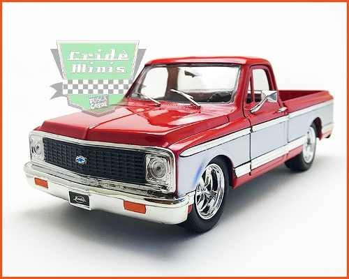 Chevrolet Cheyenne Pick-up 1972 Verm Jada C/cx - Escala 1/24