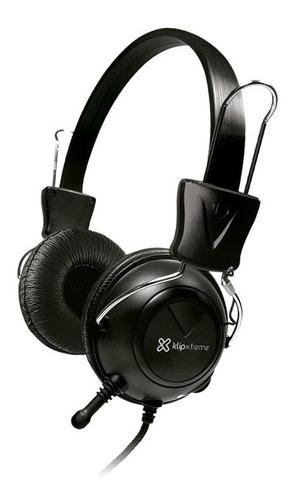 Imagen 1 de 6 de Auricular Klip Ksh-320 Vincha Cableado Micrófono Negro Nnet