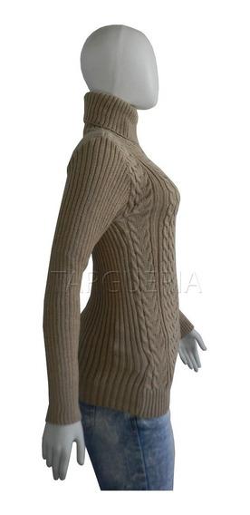 Blusa De Frio Feminina Trico Gola Alta Tricô Inverno Confort
