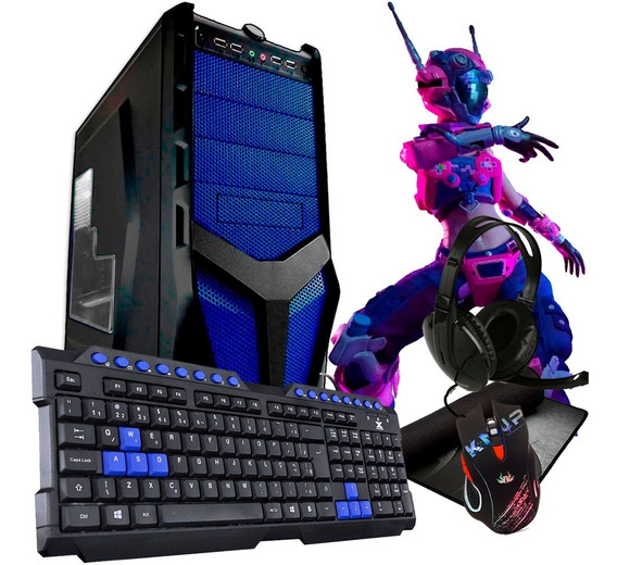 Pc Gamer Barato + Kit Gamer / Intel / Hdmi/geforce + Jogos E Programas De Brinde