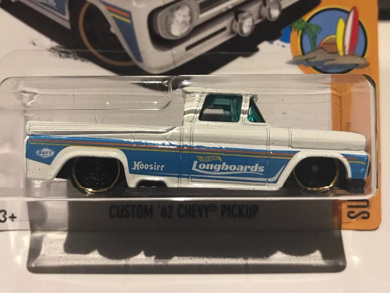 Hot Wheels Custom 62 Chevy Pickup - Branca/azul