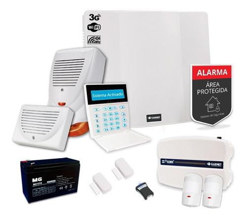 Kit Alarma Sensor Inalámbrico Sirena 3g Wifi Sms Internet