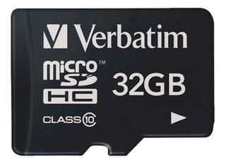 Tarjeta De Memoria Verbatim Clase10 32gb + Sd Adaptador