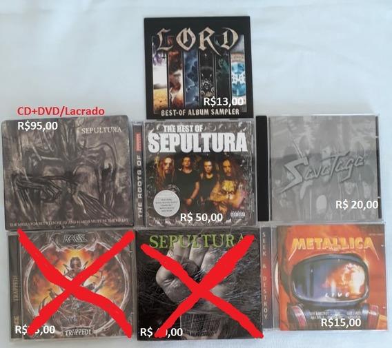 Sepultura Metallica Maiden Lote Lot Cd Coleção (leia Anuncio