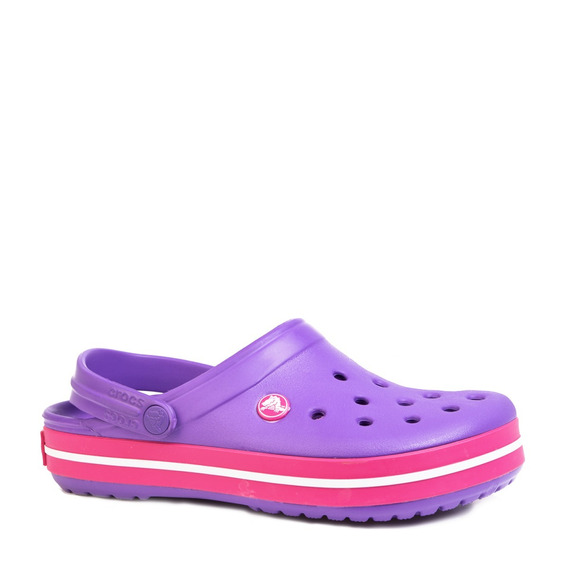 Sandalias Crocs Crocband Dama Originales Violeta Fucsia Rosa