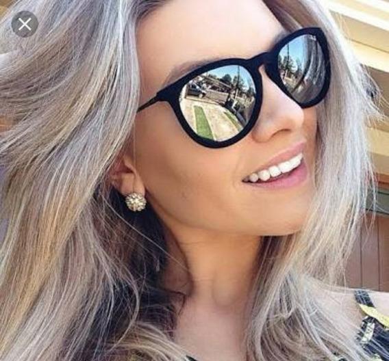 Óculos Aveludado Veludo Espelhado Marca Famosa Moda Promoção