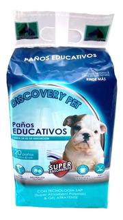 Paños Pañales Entrenamiento Perros 20u 60x40 Discovery Pet