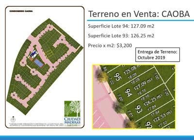 Lote Residencial En Cluster Privado Con Casa Club Y Alberca