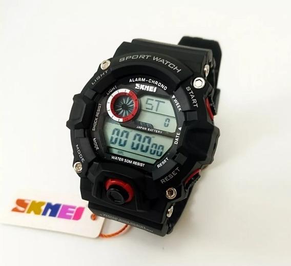 Relógio Masculino Esportivo Skmei Original Prova D Água Led