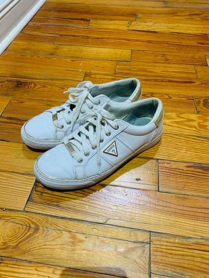 Zapatillas Guess Originales Mujer Talle 39 Blancas