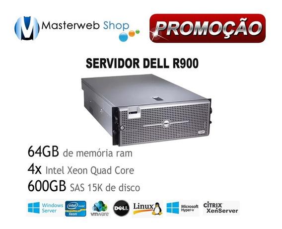 Servidor Dell Poweredge R900 4xquad Core - 64gb - Hd Sas 600