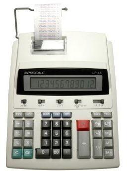Calculadora De Impressão 12 Dígitos Procalc Lp45 Bivolt