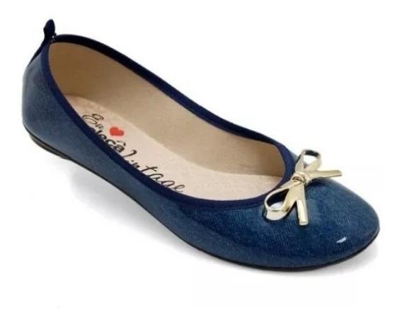Sapatilha Da Moleca Vintage Azul; Barato