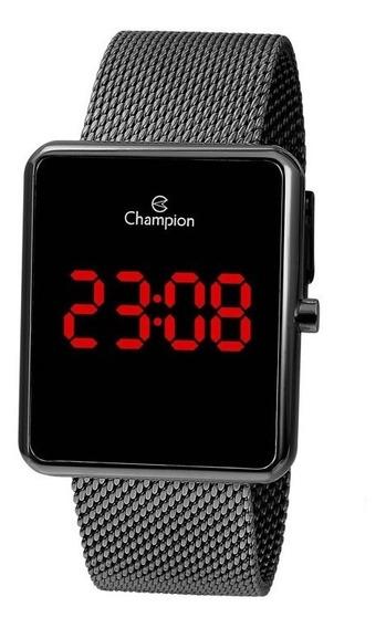 Relógio Digital Feminino Champion Dourado Quadrado Ch40080c