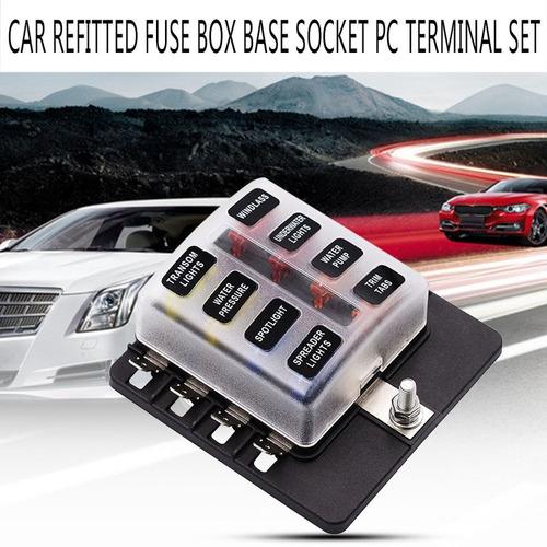 Fusible no Incluido BERYLX Portafusibles de 6 v/ías y 2 entradas Tablero de fusibles de Circuito est/ándar con Cable de 15 cm para cami/ón de Triciclo Marino para Barco de autom/óvil