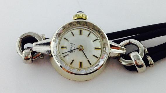 Reloj Pontiac Con Caja De Oro Blanco De 18k (inv 524)