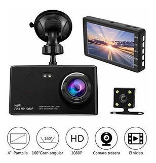 Camara De Auto Dual Dashcam,camara Para Coche Full Hd 1080p