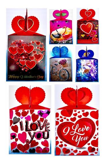 12 Cajas Para Dulces Chocolates,san Valentin, Amor Y Amistad