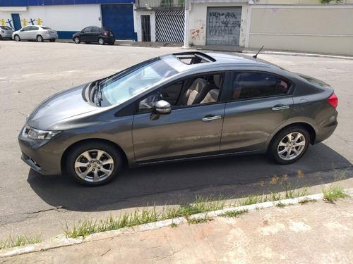 Honda Civic Completo Com Teto Solar Financio Com Score Baixo