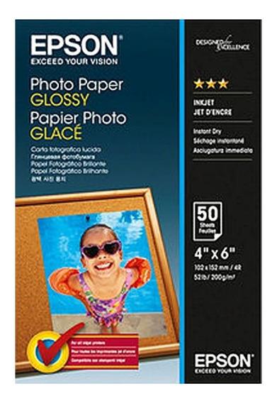 Pack Papel Fotográfico Epson Glossy 50 Folhas