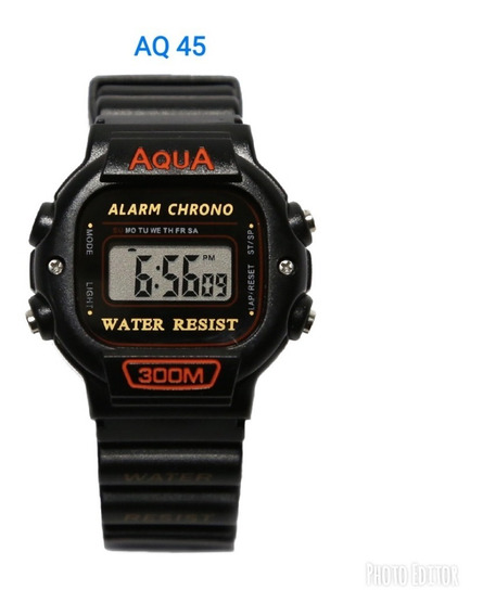 Kit 2 Relógios Masculino Novo Aq-45 Prova D