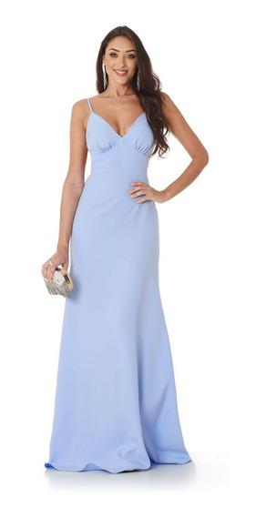 Vestido Longo Alfaiataria Azul Serenity Lala Dubi