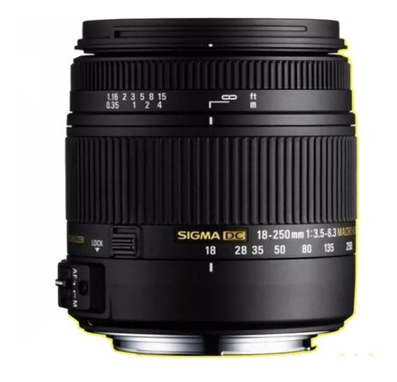 Lente Sigma 18-250mm Para Nikon Dsl
