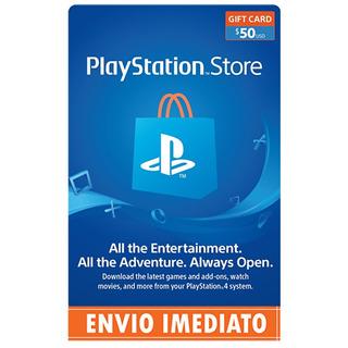Cartão Psn Card $50 Dólares Playstation Network Store Usa