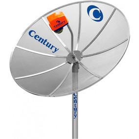 Kit Antena Tv Parabolica Century Antena 1,5m Cabo Lnbf