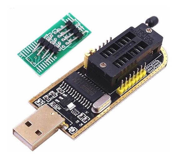 Programador Gravador Eprom Usb Ch341a Flash Spu Bios Ch341