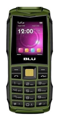 BLU Flash 2.4 Dual SIM 32 MB verde militar 32 MB RAM