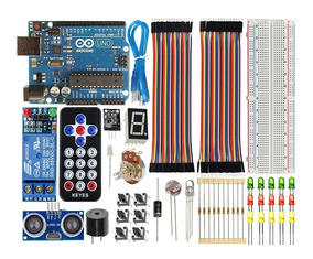 Combo Arduino Uno R3 Básico Iniciante + Sensor Pronta Entreg