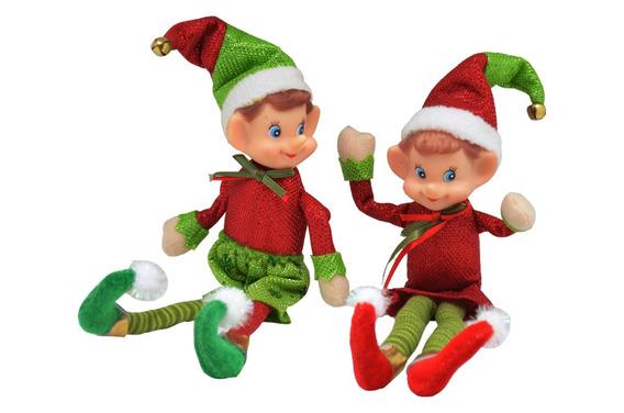 Muñeco Decorar Pixie Verde/rojo 21cm