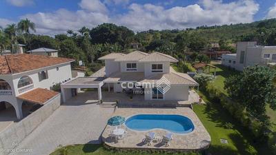 Excelente Casa, Mobiliada, 3 Suítes, Piscina Com Aquecimento, Vista Para O Lago, Smln Mi Trecho 08, Lago Norte - Ca0564