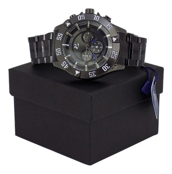 Relógio Masculino Dourado Bonito Original Barato + Caixa