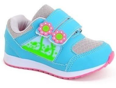 Tênis Bebê Feminino Florzinha Fechamento Em Velcro 797
