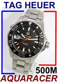 Tag Heuer Aquaracer Diver 43 Mm E 500m Black Waj1110 Aço!