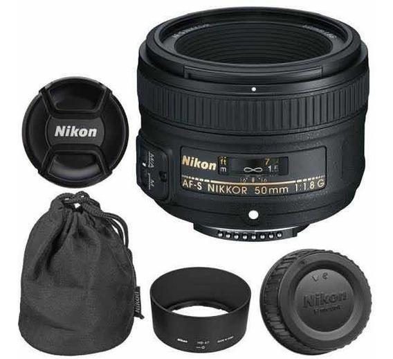 Lente 50mm 1.8g Nikon + Filtro Uv+filtro Nd Variável Brinde
