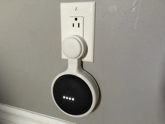 Kit 2 Suporte De Parede Tomada Google Home Mini