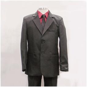 57b0201af Traje Formal Niño Polo Club Gris Oxford Con Camisa Y Corbata